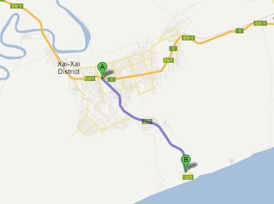 Directions to Xai Xai Beach