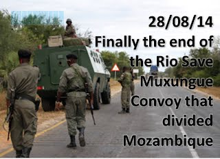 End of Military Convoy between Muxungue and Rio Save