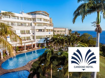 Cardoso Hotel Accommodation Pool and gardens overlooking Maputo Bay