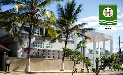 Looking at Hotel Wimbi Sun from Pemba's Wimbi Beach